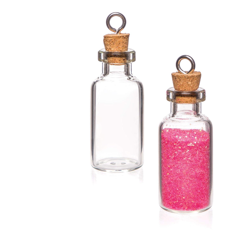 Baker Ross Minibotellas de cristal para guardar recuerdos (Paquete de 6) Botellas que los niños pueden llenar con mensajes y recuerdos.: Amazon.es: Amazon.es