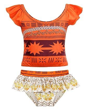 db3c57e923 AmzBarley Toddler Girls Moana 2-Pieces Swimwear Swimming Bathing Suits Age 1-2  Years