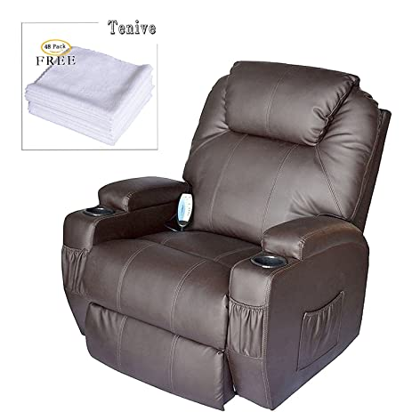Tenive Deluxe Pu Leather 360 Degree Swivel Rocker Massage Recliner Sofa Chair Lounge 8 Vibrating Nodes  sc 1 st  Amazon.com & Amazon.com: Tenive Deluxe Pu Leather 360 Degree Swivel Rocker ... islam-shia.org