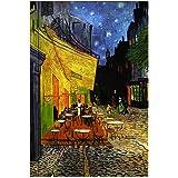 Artangle The Cafe Terrace By Vincent Van Gogh Hardcover Plain A5 Size Premium Notebook