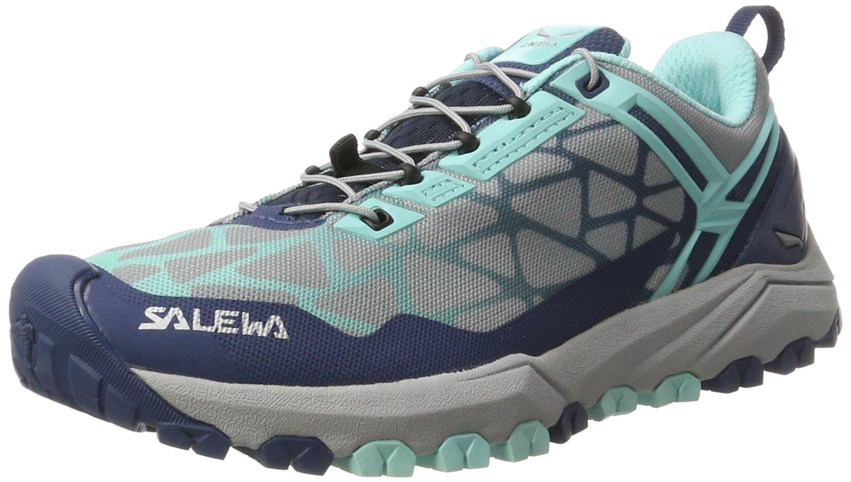 Salewa Women's Multi Track-W Trail Running Shoe, Dark Denim/Aruba Blue, 9 B(M) US