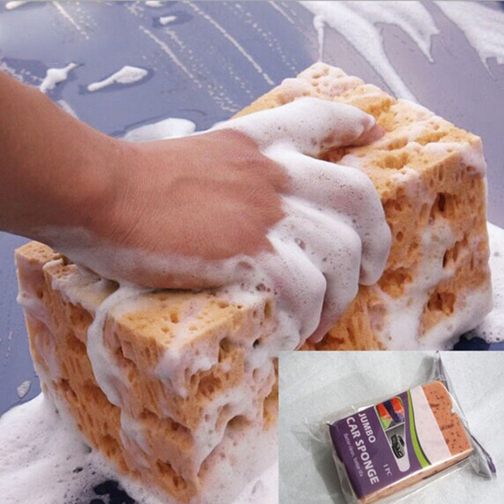 WINOMO Macroporous coche lavado esponja Honeycomb Grandes Durable coche esponja Pad