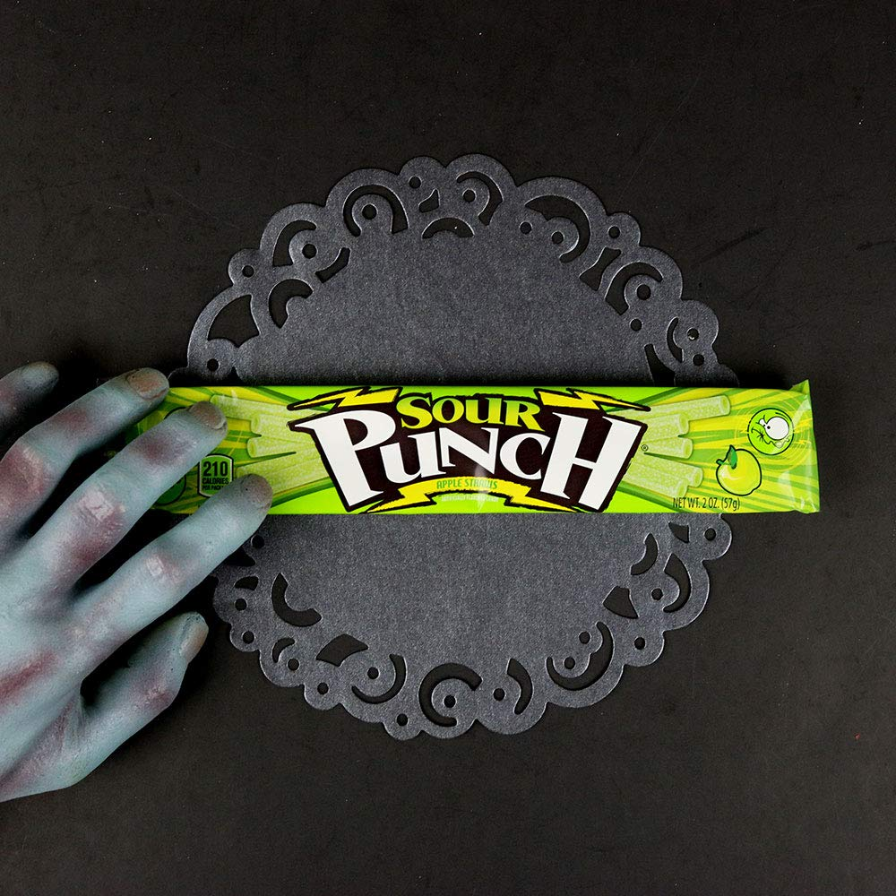 Sour Punch Straws, Sweet & Sour Apple Fruit Flavor, Soft Chewy Candy, 2oz Tray (24 Pack) by Sour Punch (Image #8)