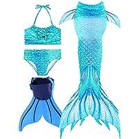 Zeemeerminstaart, meisjes, bikini, set met zeemeerminvin, voor zwemmen, prinses, zeemeerminnen, badpakken voor cosplay…