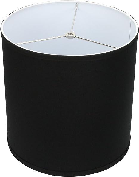 Beige floor//ceiling cylinder lampshade black handmade drum lampshade