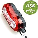 SCONTISSIMO per LED Fanale Posteriore per bici, Ricaricabile via Cavetto USB, Montaggio Facile, 5 Modalità
