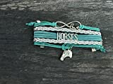 Infinity Collection Horse Charm Bracelet, Horse