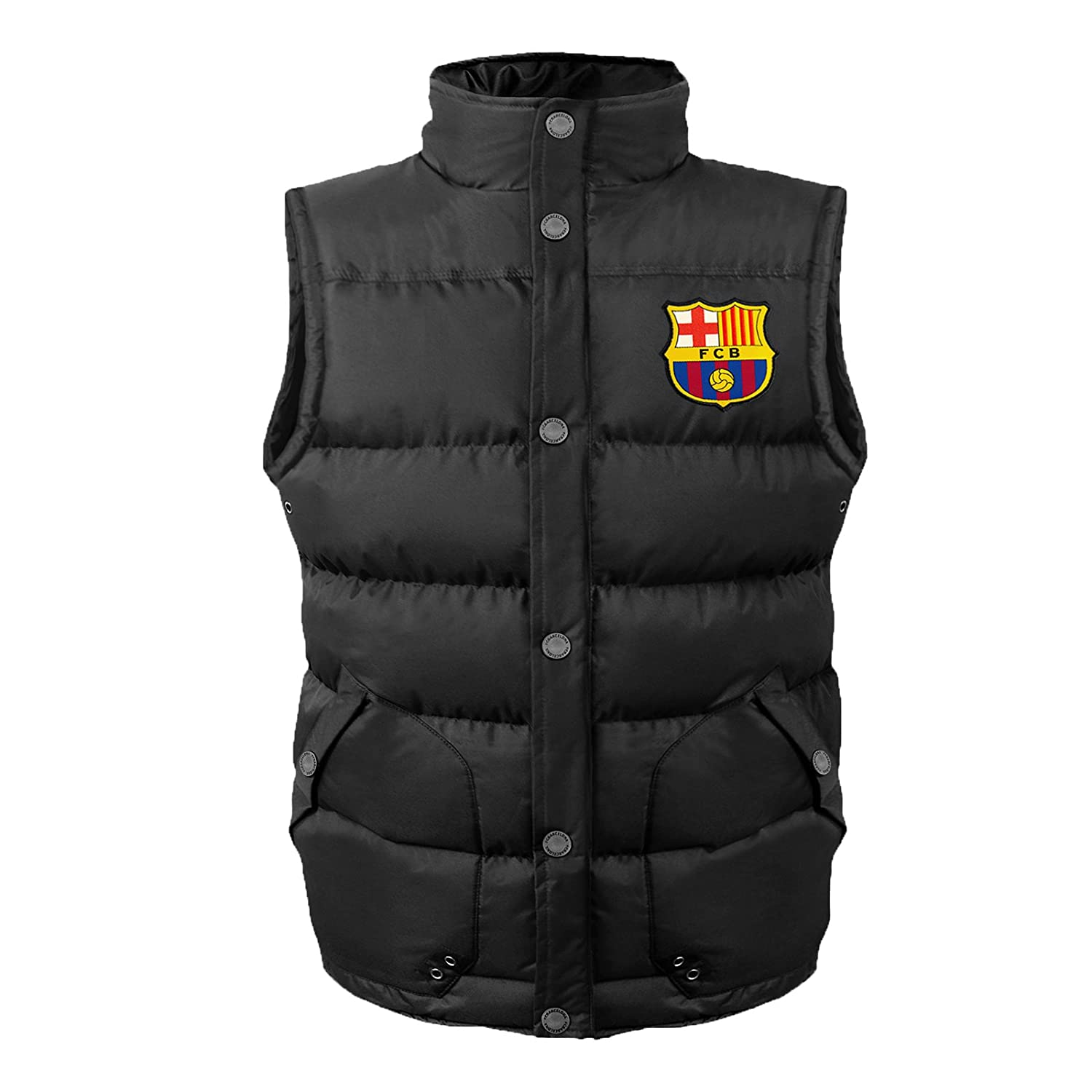 FC Barcelona Official Football Gift Boys Padded Body Warmer Jacket Gilet