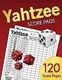 Yahtzee Score Pads: Large size 8.5 x 11 inches 120 Pages - Dice Board Game - YAHTZEE SCORE SHEETS - Yatzee Score Cards - Yahtzee score book Vol.4
