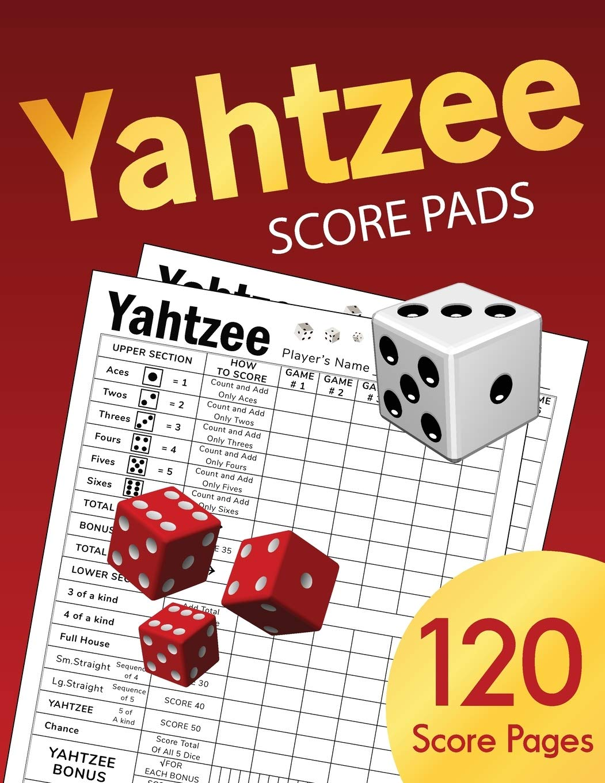 Yahtzee Score Pads Board Game