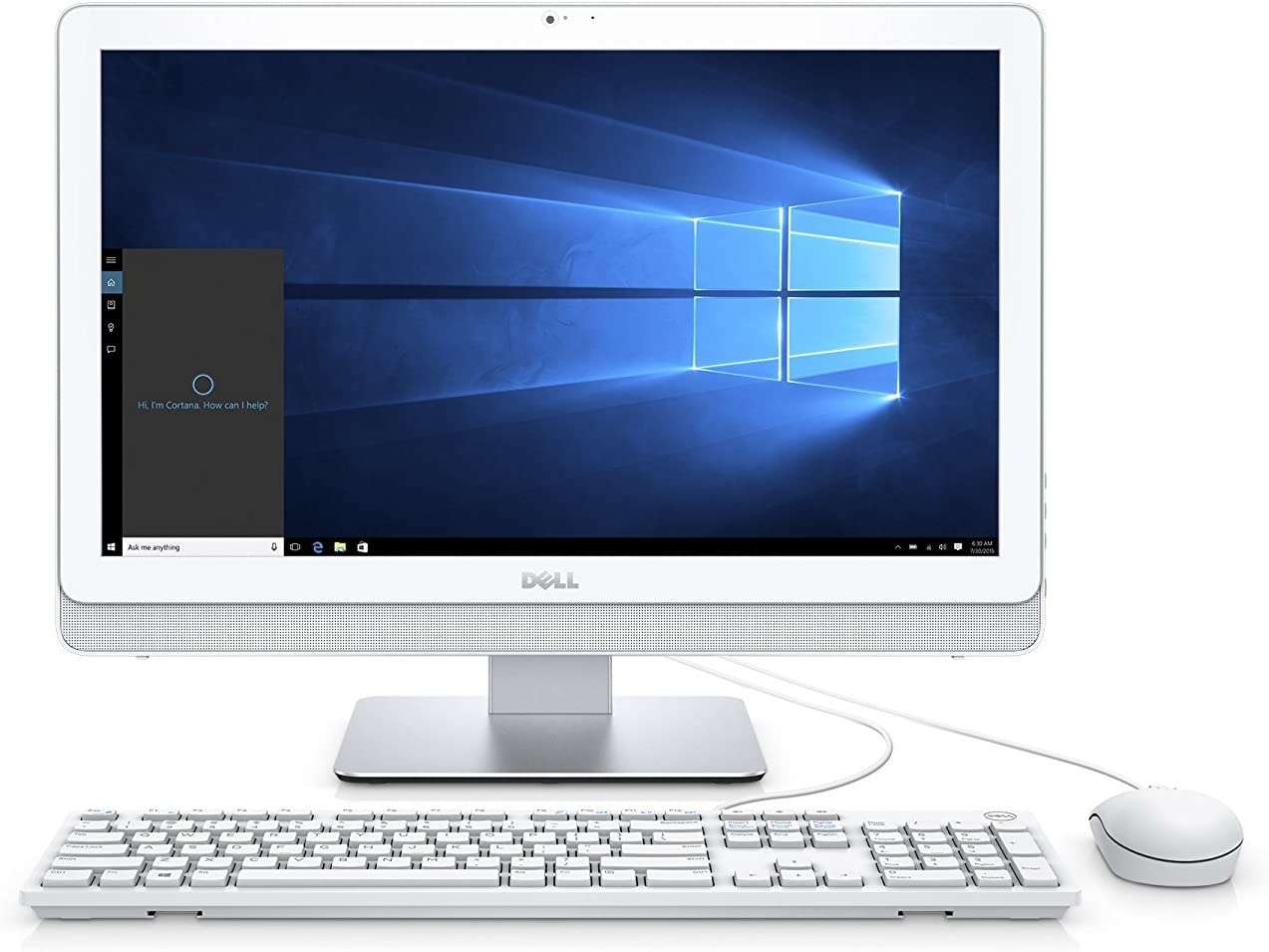Dell Inspiron 3265 21.5in FHD All-in-One Desktop PC - AMD E2-7110 1.8GHz, 4GB, 1TB HDD, DVDRW, Bluetooth, Windows 10 Home - White (Renewed)