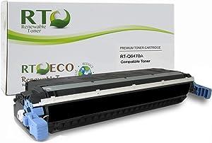 Renewable Toner Compatible Toner Cartridge Replacement for HP 501A Q6470A Color Laserjet 3600 3800 CP3505 (Black)