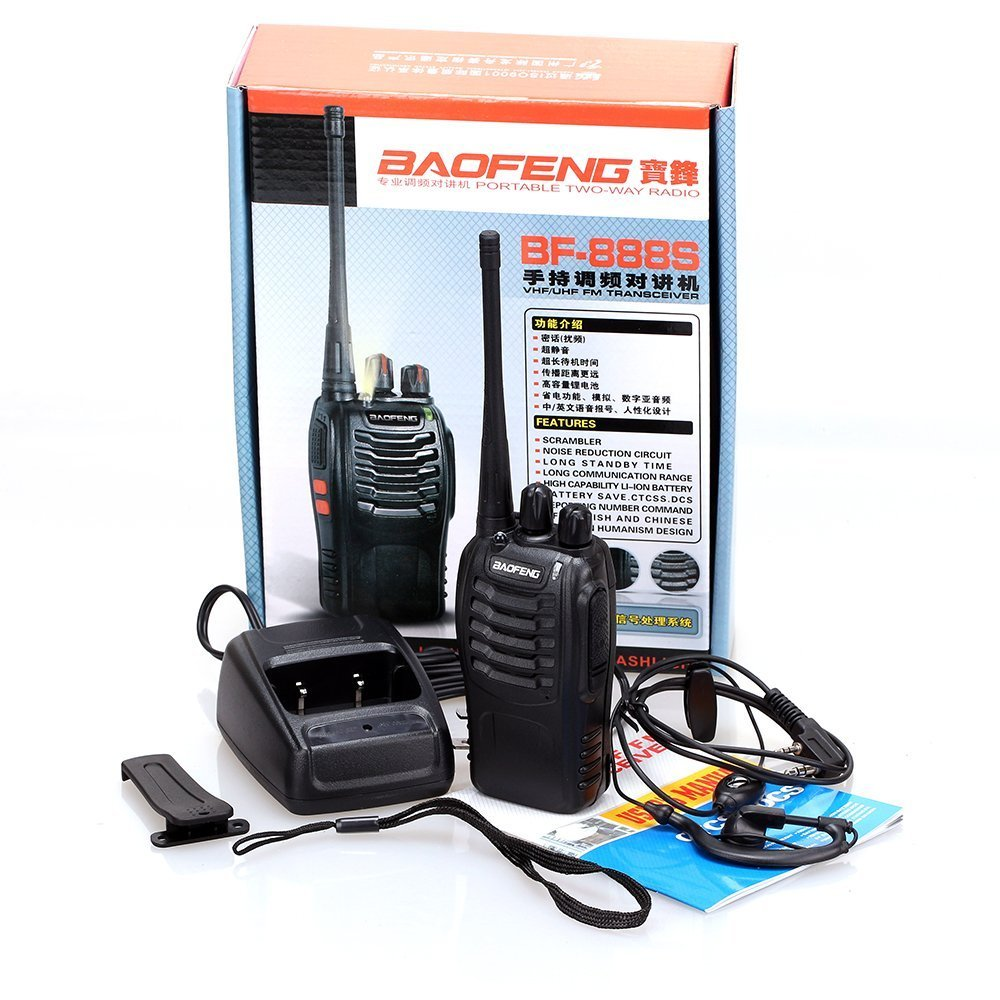 Baofeng BF-888S Rechargeable Long Range 5W Two Way Radio Walkie Talkies 16 Channel Handheld Radio Built in LED Torch Microphone With Earpiece(Pack of 10) 10 Pack by Baofeng (Image #9)
