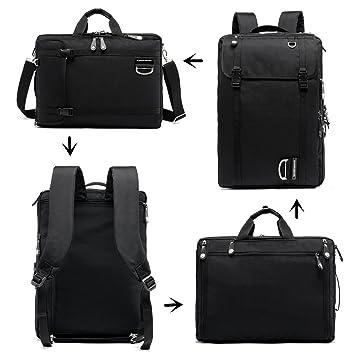 "17 "" – Mochila para portátil, maletín Convertible impermeable Business – Mochila de viaje"