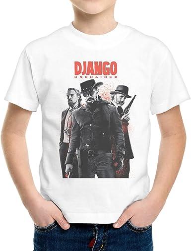 Camiseta Niño Niño Django Quentin Tarantino Póster - Bianco 12/14 Años: Amazon.es: Ropa y accesorios