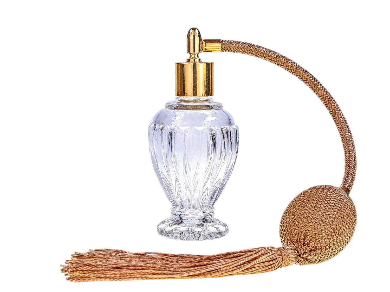 Divo nappa oro profumo atomizzatore, 46 ml. Imbuto di riempimento e confezione regalo inclusa (GF) 46ml. Imbuto di riempimento e confezione regalo inclusa (GF) essential atomizer