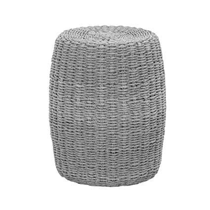 ab917496595e Amazon.com: Star International Furniture Loom Accent Table in Platinum Rope:  Kitchen & Dining