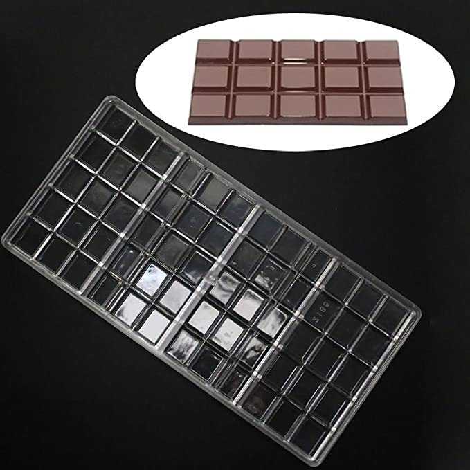 Amazon.com: Grainrain Polycarbonate Chocolate Bar Molds PC Mould Clear Hard Plastic Candy Mold Mould: Kitchen & Dining