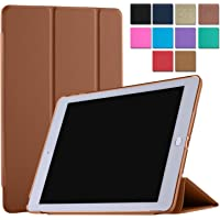 DuraSafe Case for iPad 9.7 Inch 6 / 5 Gen 2018 / 2017 [ A1893 A1954 A1822 A1823 ] Smart Cover Tri Fold - Brown
