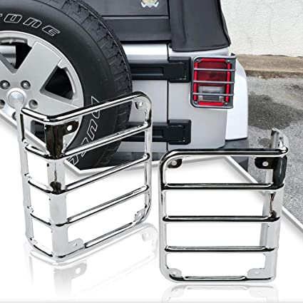 JEEP WRANGLER JK STAINLESS STEEL TAIL LIGHT GUARD 2007-2013