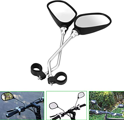 Jeemitery Bicycle Mirror,A Pair of 360/°Rotation Back Rearview Mirror Handlebar Wide Angle Bike Mirror