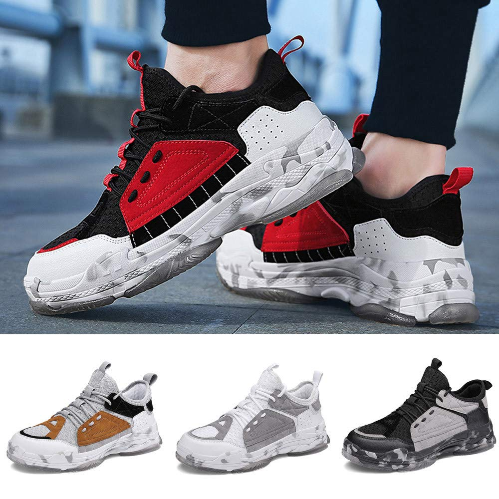 Sneakers Mens Breathable Men KKGG Trend Fly Fashion Casual Comfortable Sport Shoe Lace-Up Weave Light Sneaker Outdoor Non-Slip Mesh Leisure Running Footwears for Athletic Walking Hiking Jogging