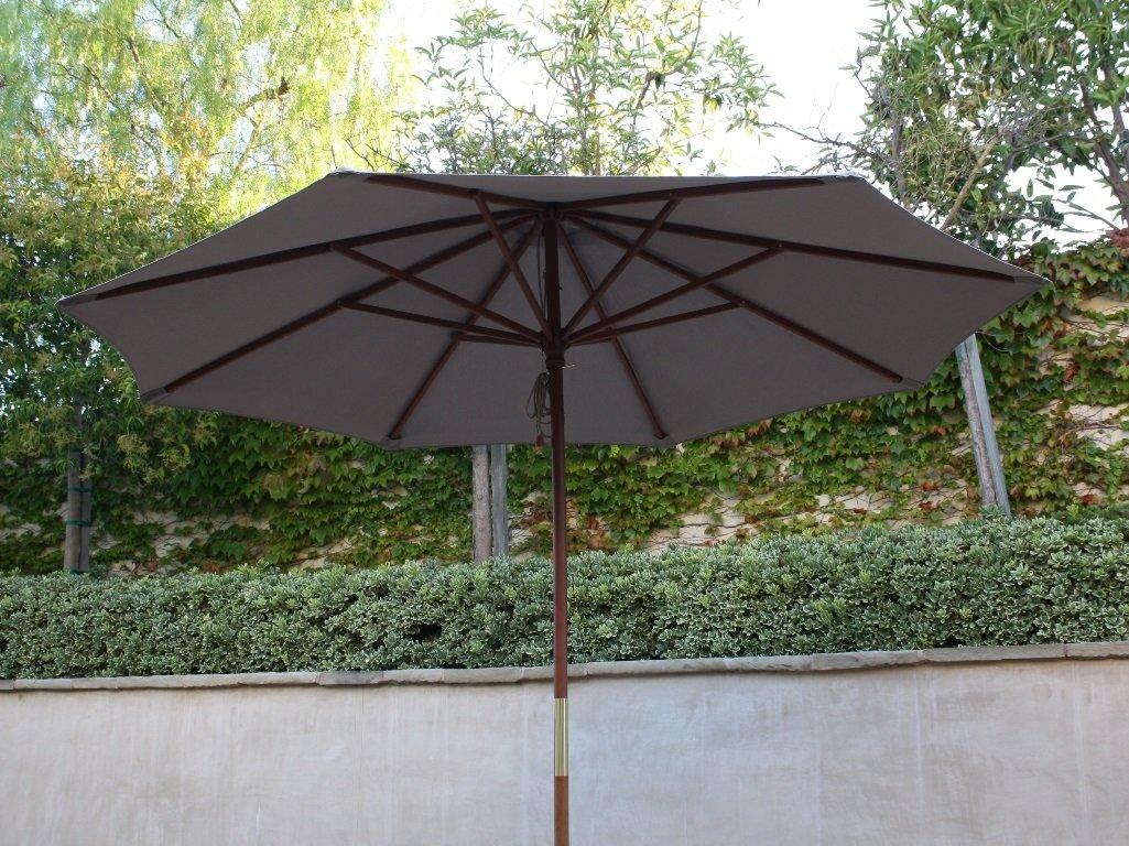 Amazon.com : 9ft Market Umbrella Replacement Canopy 8 Ribs Taupe (Canopy  Only) : Patio Umbrellas : Garden U0026 Outdoor