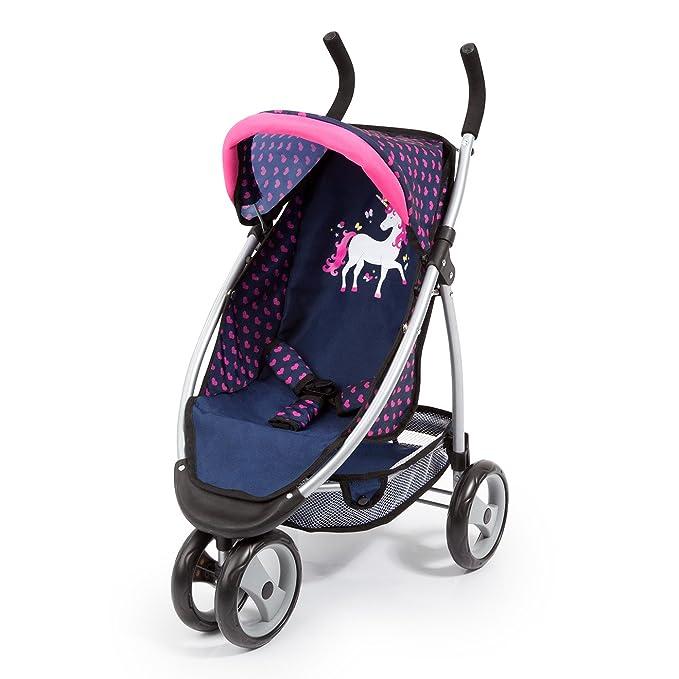 Amazon.es: Bayer Design Cochecito de Muñeca con Cinturón de Seguridad, Color: Azul/Rosa (39954AA): Juguetes y juegos