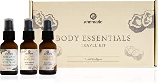 product image for Annmarie Skin Care Body Essentials Travel Kit - Travel-Friendly Skin Silk Body Lotion, Rosemary Peppermint Body Wash + Coconut Body Oil (3 Piece Kit)