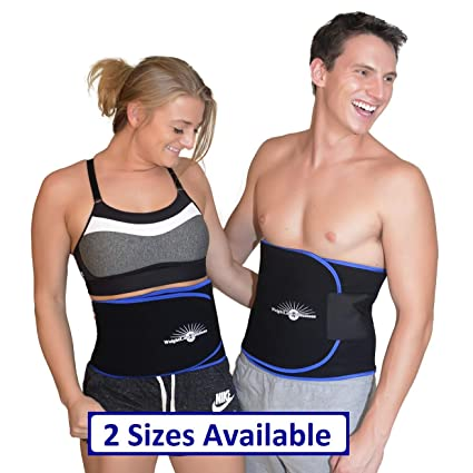 8255b17cc34 WeightLoss-Solutions Deluxe Waist Trimmer Belt for Men and Women. Waist  Slimming Sauna Belt to Burn Belly Fat. Lose Belly Fat and get a Slimmer  Waistline.