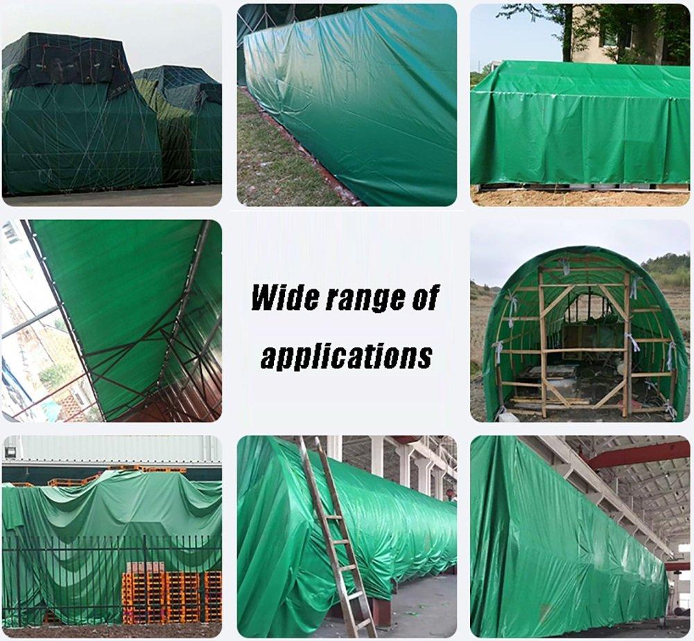 Planen, strapazierfähig, Ösen, regendichtes Zelt, mit Ösen, strapazierfähig, wasserdicht, Sonnenschutz-Isolierung, Markise, Schuppen, Zelttuch, 560 g m2, grüne Planen 70e35a
