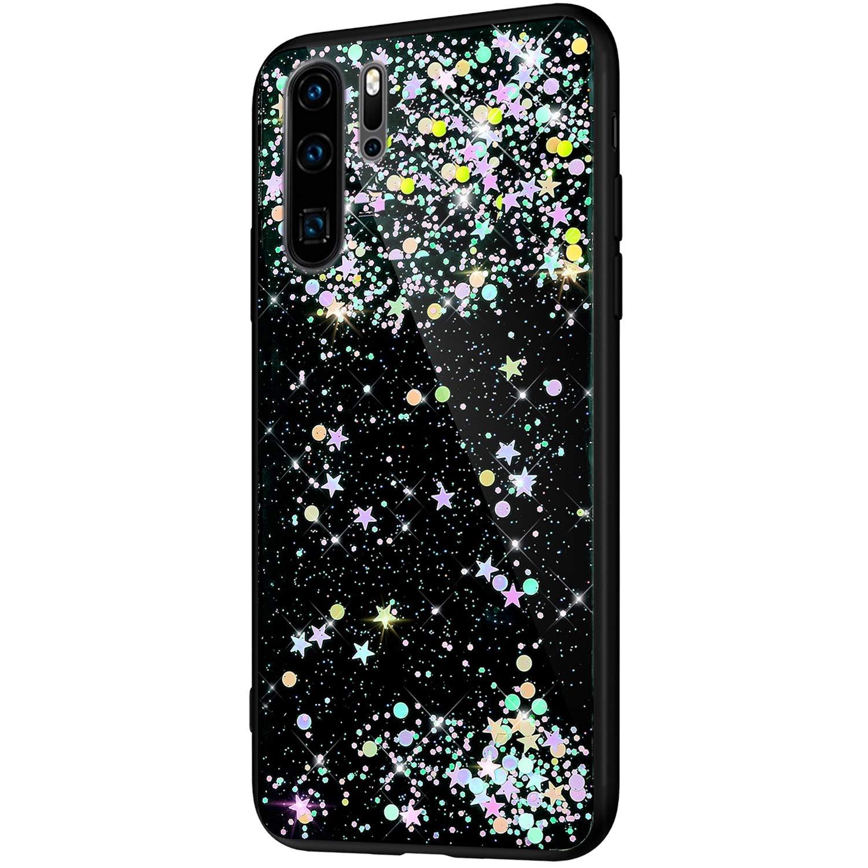 Felfy Bling Custodia Compatibile con HuaWei Honor View 20 Cover Trasparente Brillante Glitter,Compatibile con HuaWei Honor V20 Ultra Sottile Morbida Silicone TPU Antiurto Protectiva Case