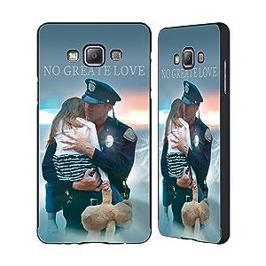 Official Jason Bullard Police Rescue Law Enforcement Black Aluminum Bumper Slider Case for Samsung Galaxy A7