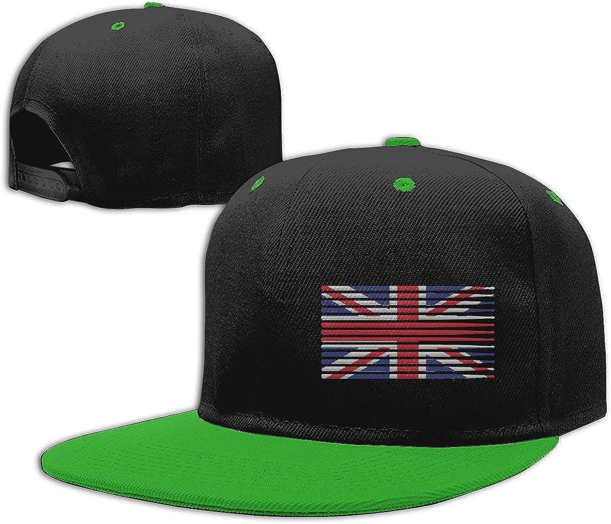 United Kingdom Drummer Classic Flat Peaked Baseball Caps Men and Women Dad Hat