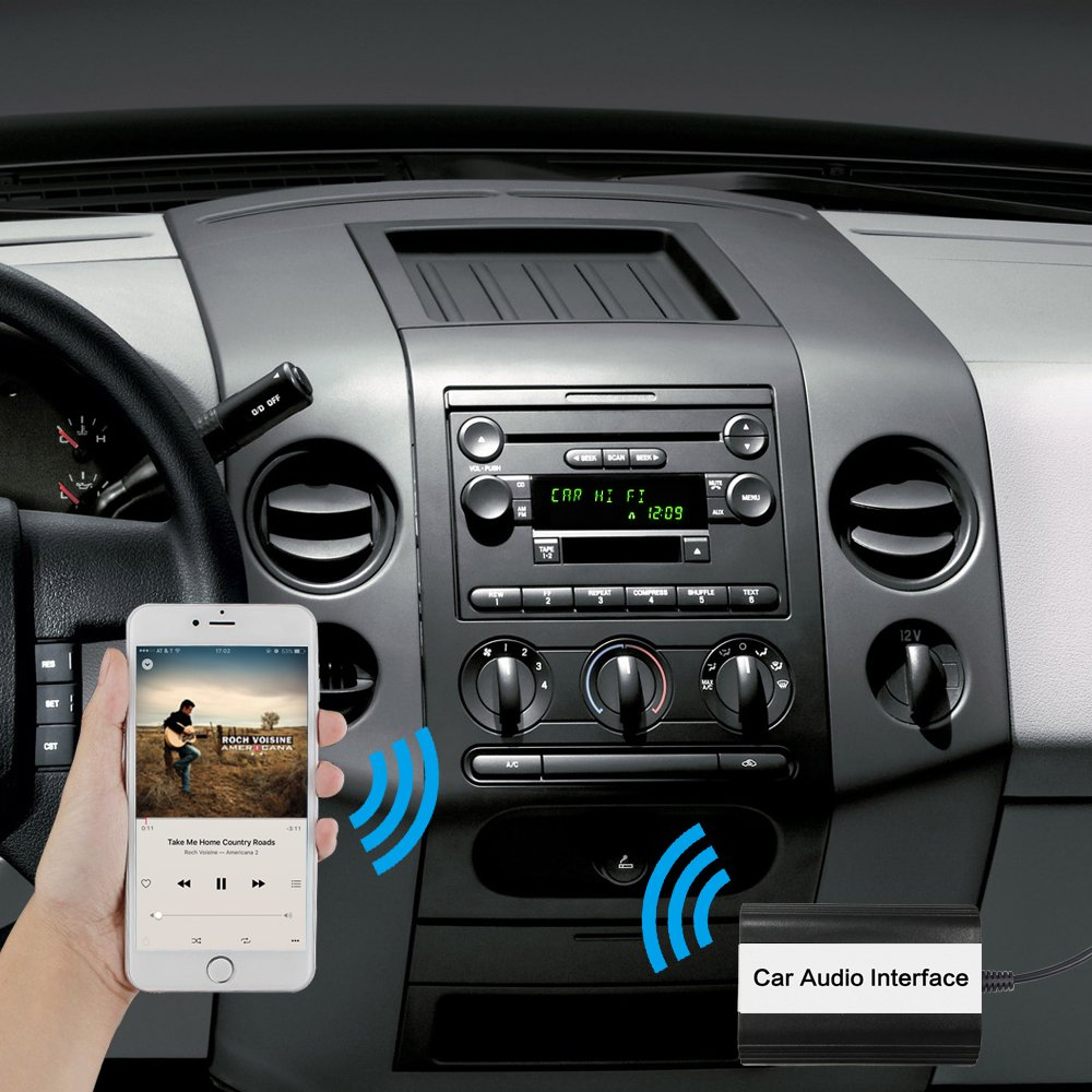 Car Stereo Bluetooth Adapter For Ford Wireless Music 2003 Mercury Mountaineer Diagram Wiring Schematic Receiver Aux Usb Interface Edge Explorer F150 F250 F350 F550 Focus Freestyle