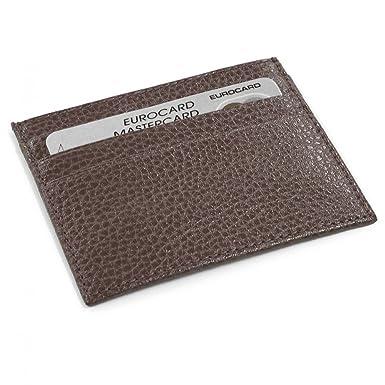 b6b2fff63793 Porte Carte d identité et Carte bancaire en Cuir Marron Laurige Fabrication  Luxe Française