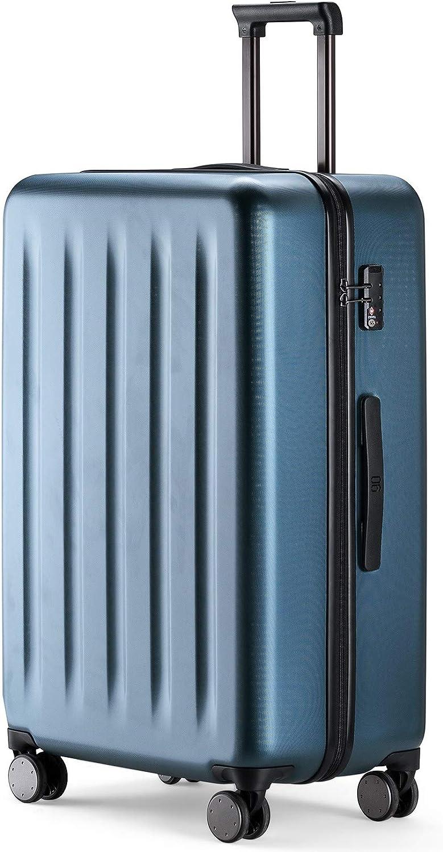 90FUN Maleta de Cabina rígida I Equipaje de Mano Ligero 4 Ruedas con Cerradura TSA I 55,5 x 37,5 x 22,3 cm I Azul