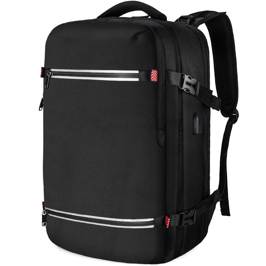 6c9d1eeac00 NUBILY Laptop Backpack 17.3 Inch Water Resistant Business USB Charging Port  Computer Rucksack 17 Inch Travel Camping School Work Office for Men Black:  ...