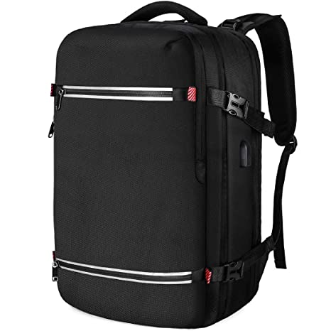 061fa1595ea8 NUBILY Laptop Backpack 17.3 Inch Water Resistant Business USB Charging Port  Computer Rucksack 17 Inch Travel Camping School Work Office for Men Black