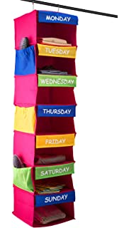 Saganizer DAILY ACTIVITY ORGANIZER Kids 7 shelf portable closet hanging  closet organizer great closet solutions