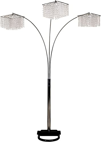 Ore International 6932 3 Light Crystal Inspirational Arch Floor Lamp