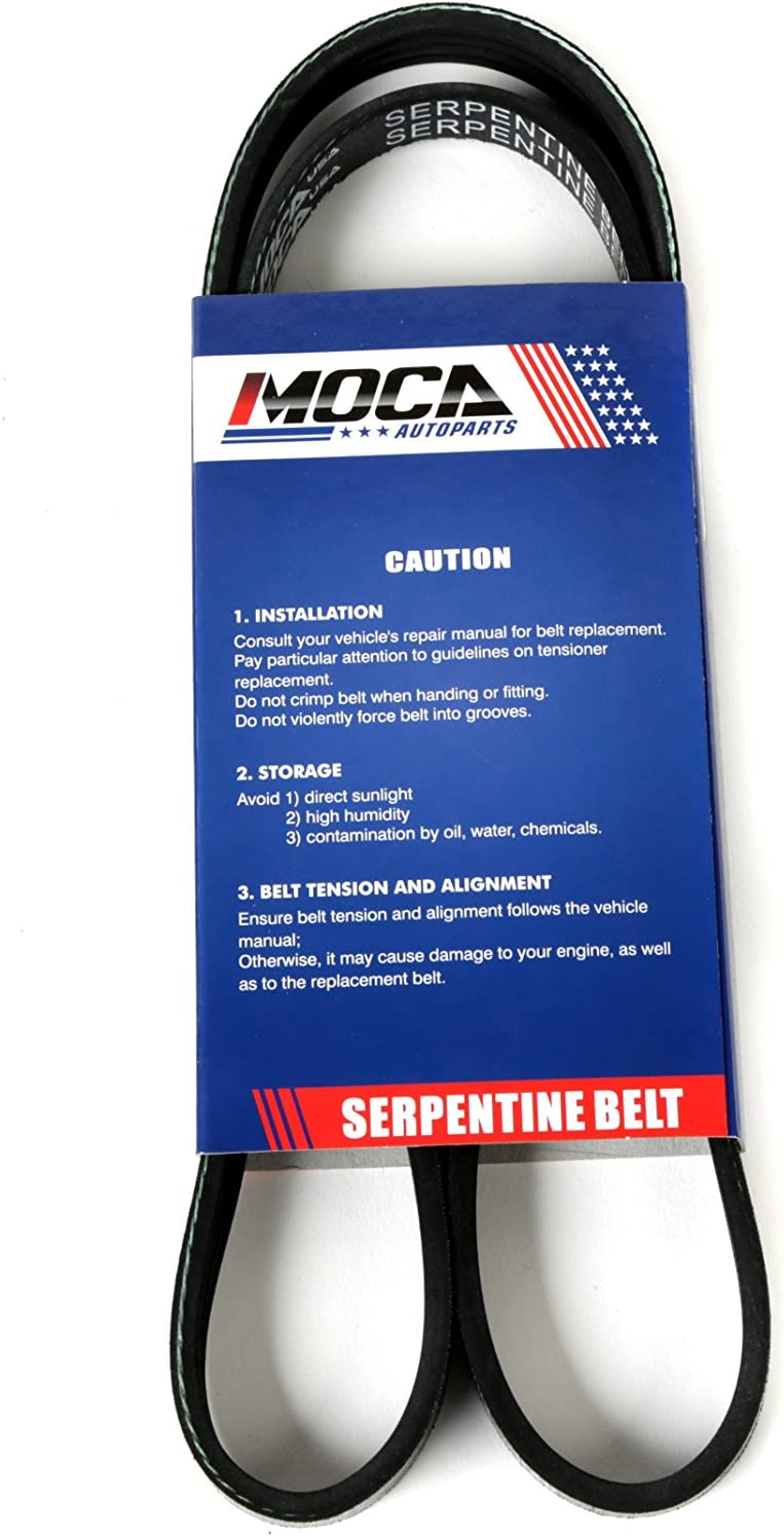 MOCA 4PK1065 EPDM Serpentine Belt Professional V-Ribbed Fits 97-04 Corvette 2.2L-5.7L GAS SOHC /& 91-02 Honda Accord 2.2L 2.3L GAS SOHC