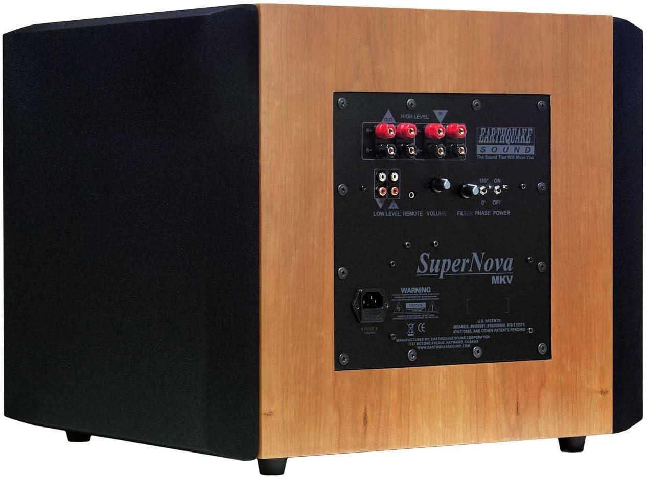 Earthquake Sound Supernova MKV-15VC 15-inch Powered Subwoofer (Cherry, Single)