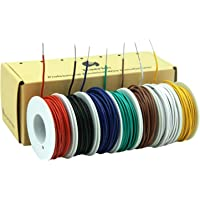 0,2 mm² 24awg Elektrische draadkabel van massief vertind koperdraad, 7 kleuren per 9 meter spoel, flexibele DIY
