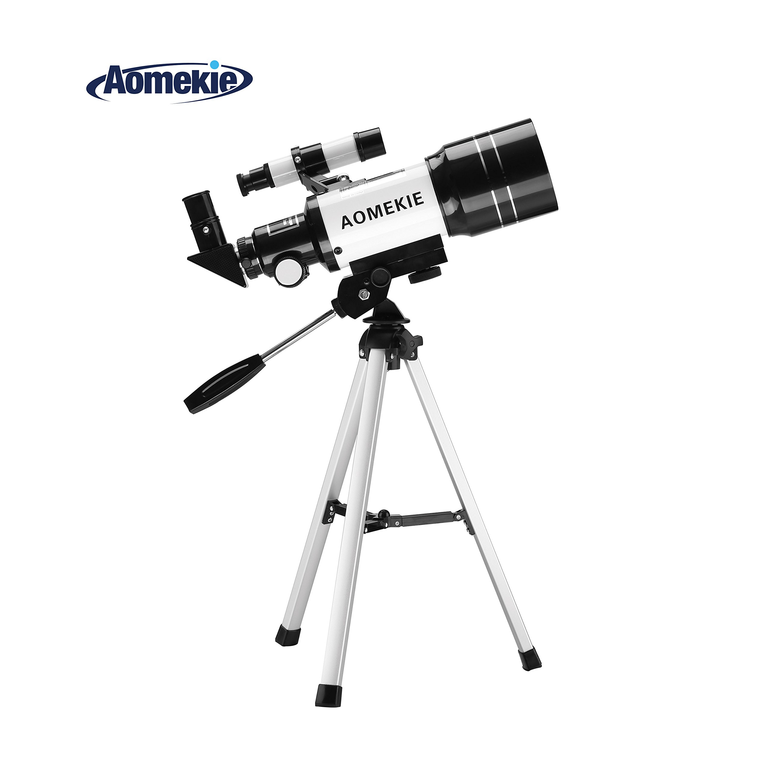 Aomekie 70mm Telescope for Astronomy Beginners and Kids Adults Travel Scope Refractor Telescopes with Adjustable Tripod 5X24 Finderscope 3X Barlow lens by AOMEKIE