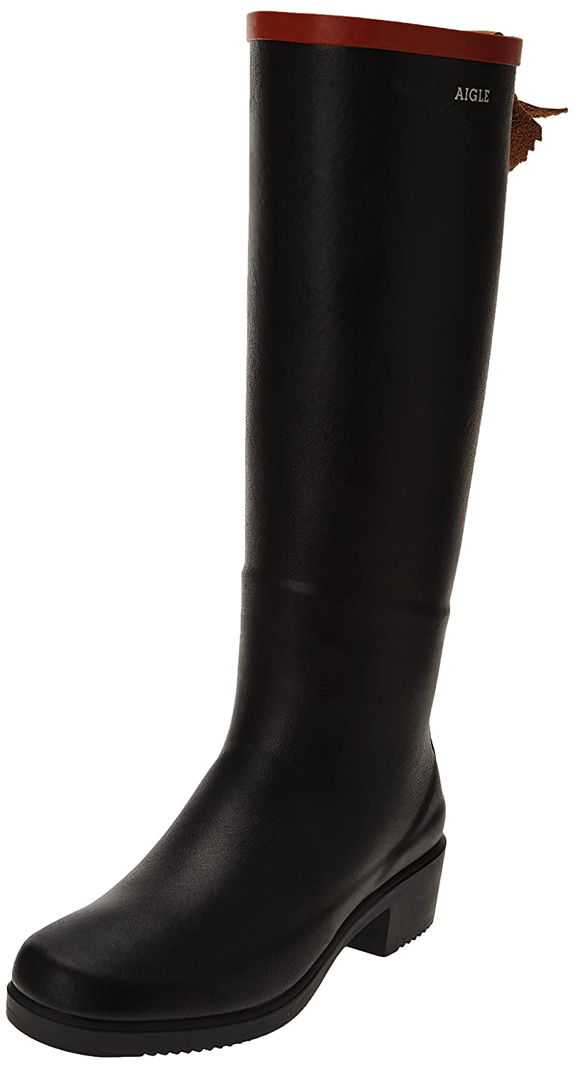 Aigle Womens Miss Juliette Rubber Boots B00CAFODVK 7 B(M) US Women|Navy-blue (Marine/Rouge)