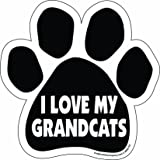 Imagine This Paw Car Magnet, I Love My Grandcats, 5-1/2-Inch by 5-1/2-Inch