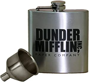 Dunder Mifflin 6oz Flask with Funnel set - The Office TV Show Dundie