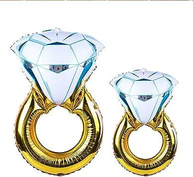 Große Aluminiumfolie Ballons Ehering Diamantring Ballondekoration/_Romantik