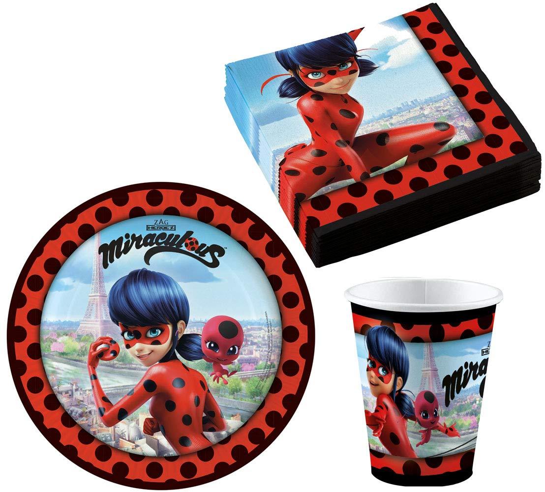 ZAG Heroes Miraculous Ladybug - Juego de Platos y ...